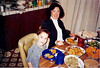 Family dinner in the Mtn View house March 1991