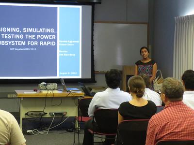 MIT Haystack 2013 REU/RET Seminars