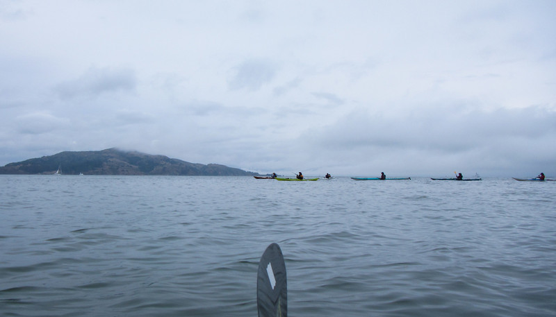 Later, some of us chose to avoid the winds at Angel Island and paddle along the Sausalito waterfront, instead.  Wouldn't you know it… the winds died down and Angel would have been a cakewalk.
