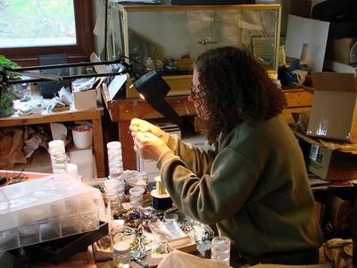 Marco Jerman, Glass Artist, Liquid Light Gallery, Logan, Ohio 2009, Nov.