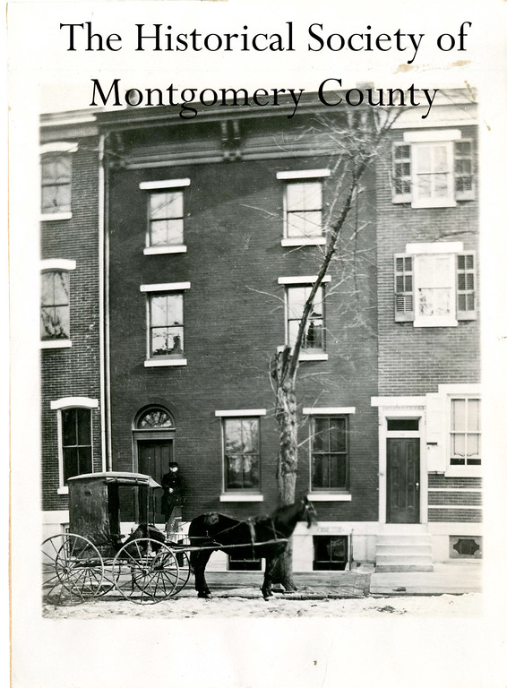 . This photo from the Historical Society of Montgomery County shows the home of Dr. Jacob O. Knipe, at 528 Swede Street in Norristown. Dr. Knipe is the man pictured on the steps.