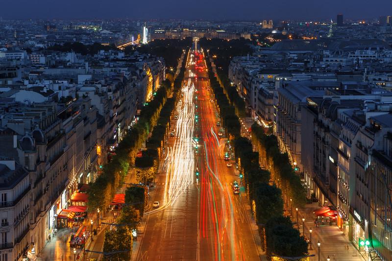 Champs Elysees, Paris, France.