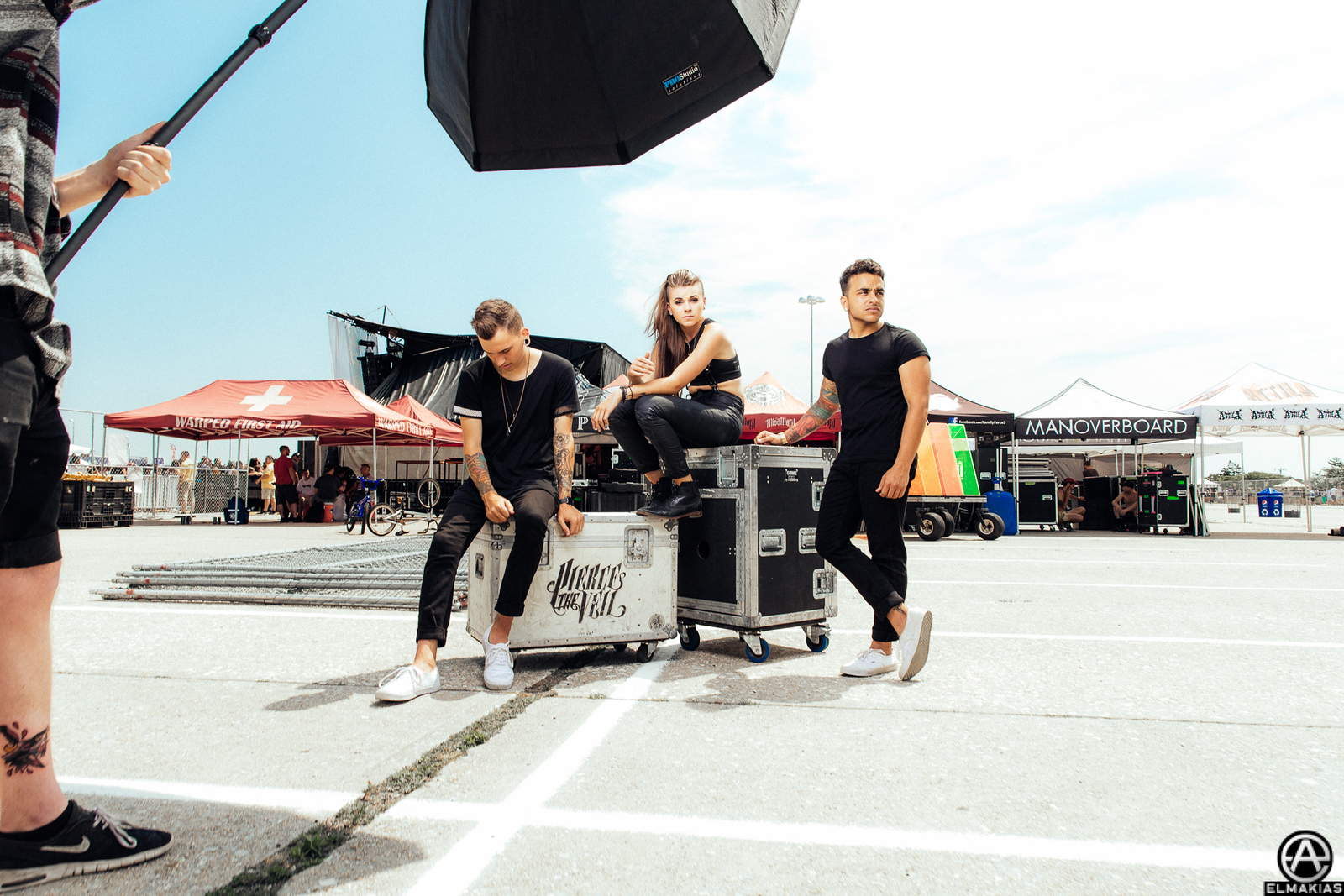 Behind the Scenes of shooting PVRIS for Rocksound Magazine at Vans Warped Tour 2015 by Adam Elmakias
