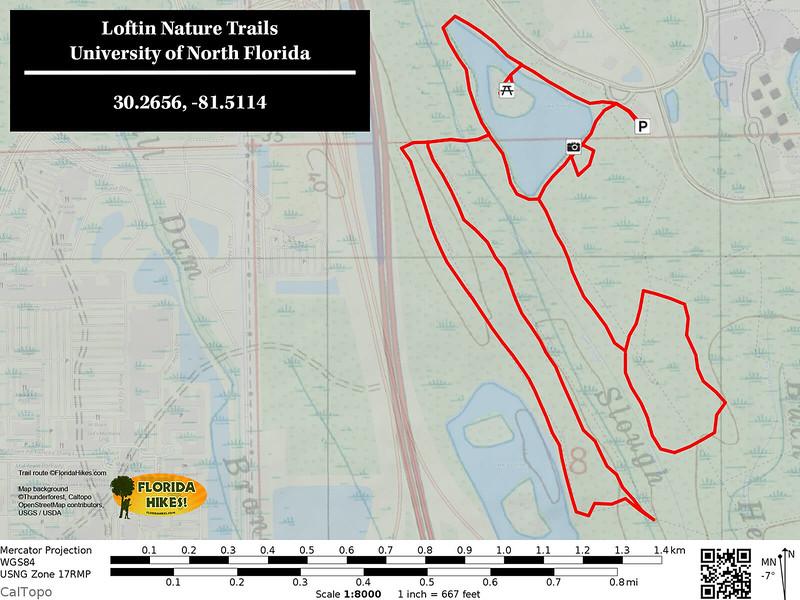 Loftin Nature Trails Trail Map