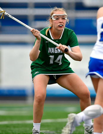 4/20/2019 Mike Orazzi | Staff Wagner Women's Lacrosse's Lindsay Haas (14) against CCSU in New Britain on Saturday.