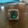 1.60ctw Emerald and Diamond Cocktail Ring 17