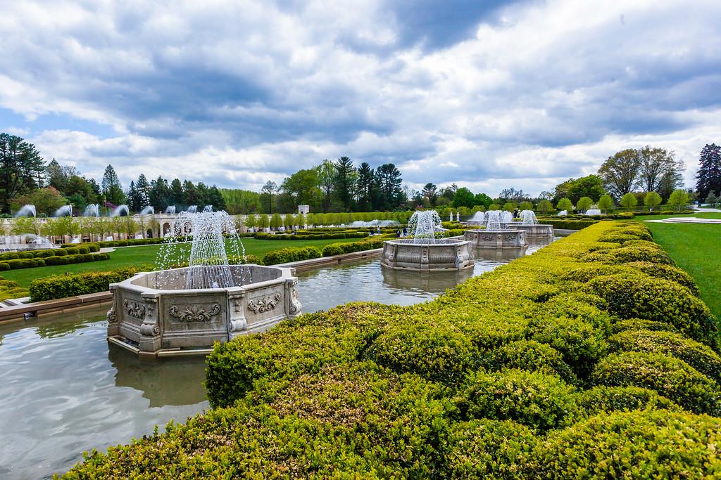 宾州长木公园,中央喷泉花园