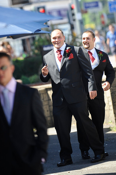 Groom and Best man arriving at Wedding Ceremony