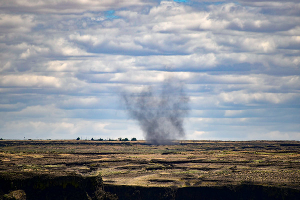 The Dust Devil Near Grand Coulee, Washington
