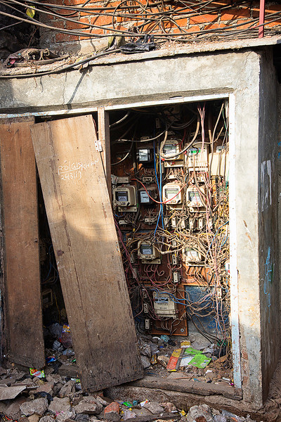 Electrical center for all of Dhobi Ghat