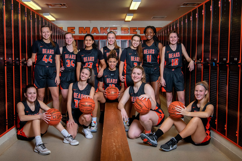 White Bear Lake Girls Basketball Portraits 2021
