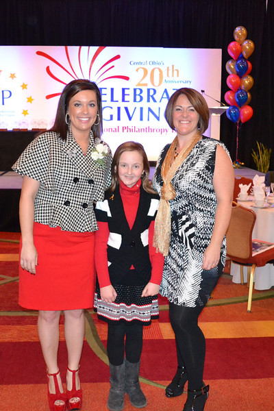 Nellie Receiving Young Philanthropist of the Year Award