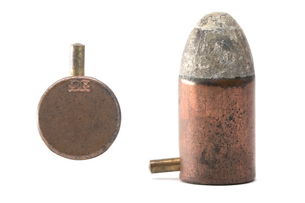 12mm pinfire cartridge manufacturer by Société Française des Munitions for the Norwegian military