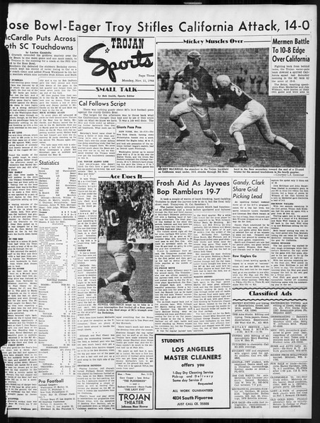 Daily Trojan, Vol. 38, No. 41, November 11, 1946