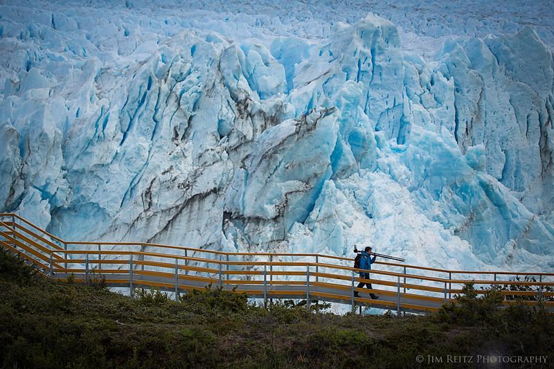 Perrito Moreno glacier in Patagonian Argentina.