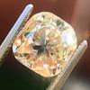 4.03ct Light Fancy Brown Antique Cushion Cut Diamond Halo Ring GIA LFB, SI1 82