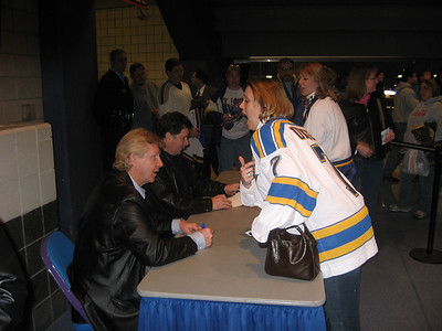 "St. Louis Blues Hockey: Gary Unger visits during the ""40 Years of Hockey"" celebration."