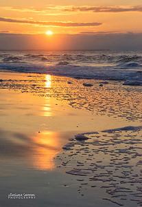 Sunrise on Yaupon Beach; Oak Island, NC