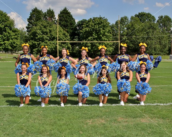 LMS  football Cheerleaders 2016