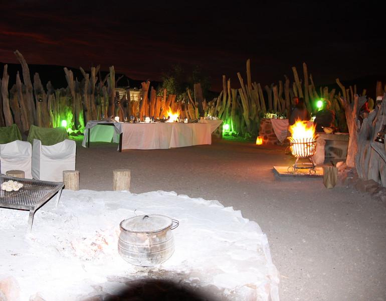 Boma for dinner at Damaraland Camp