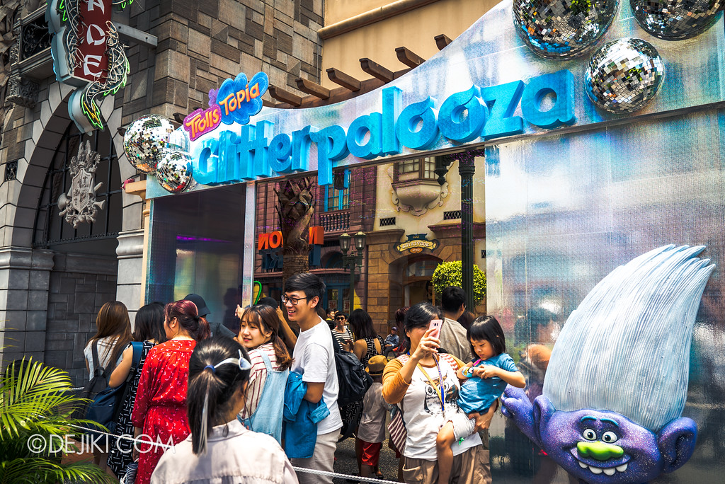 Universal Studios Singapore Park Update March 2018 TrollsTopia event - Glitterpalooza experience
