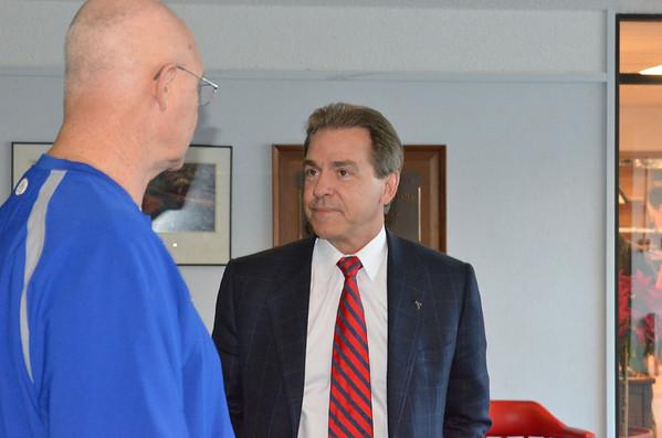 Alabama Coach, Nick Saban, visits FUMA