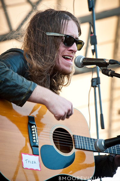"Jaren Johnston of American Bang performs a ""secret show"" on December 5, 2010 during 97X Next Big Thing at 1-800-ASK-GARY Amphitheatre in Tampa, Florida"