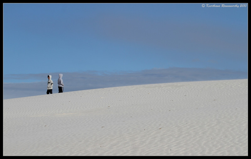 Are they twins, or is that a mirror image? White Sands National Monument, New Mexico, November 2010