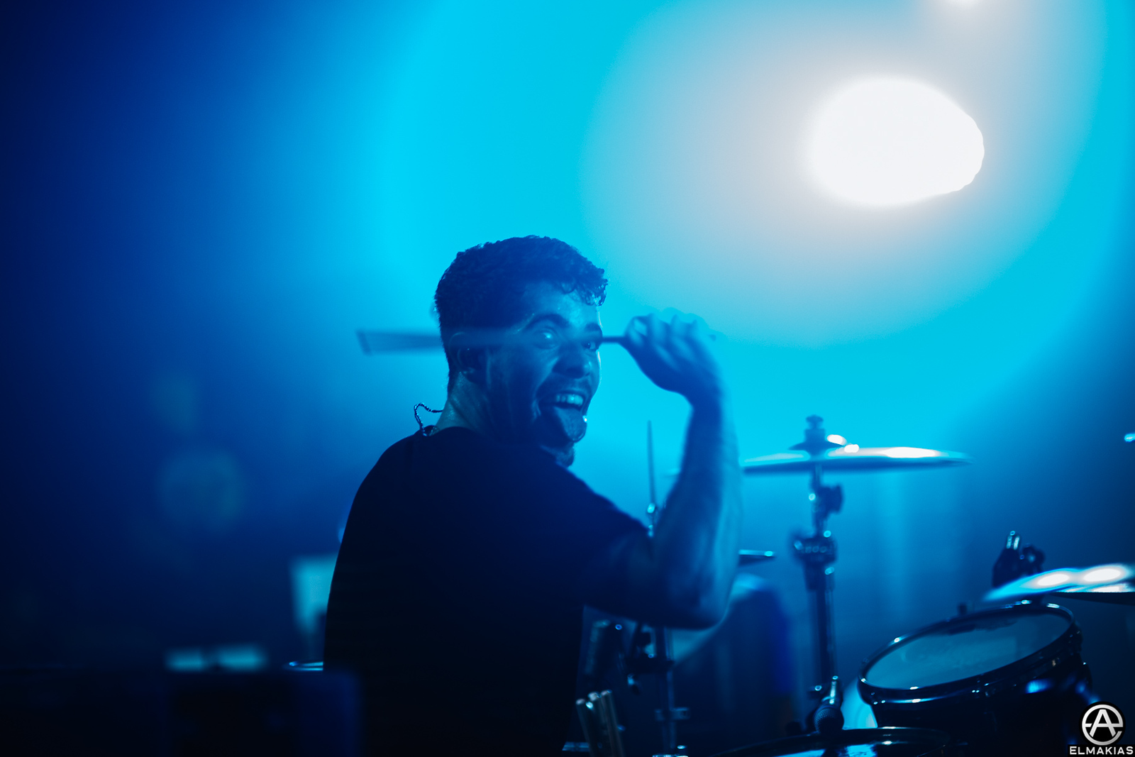 Alex Shelnutt of A Day To Remember live at Ray Just Arena in Moscow, Russia