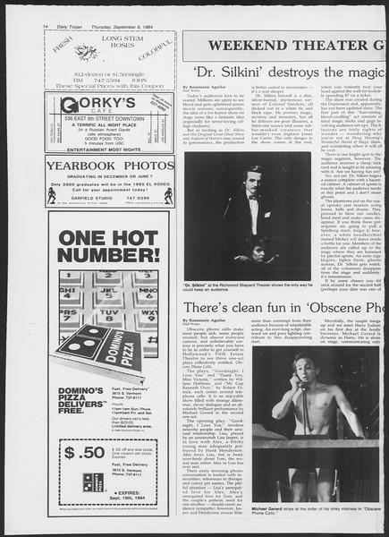 Daily Trojan, Vol. 97, No. 3, September 06, 1984