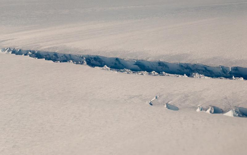 A rift through Pine Island Glacier