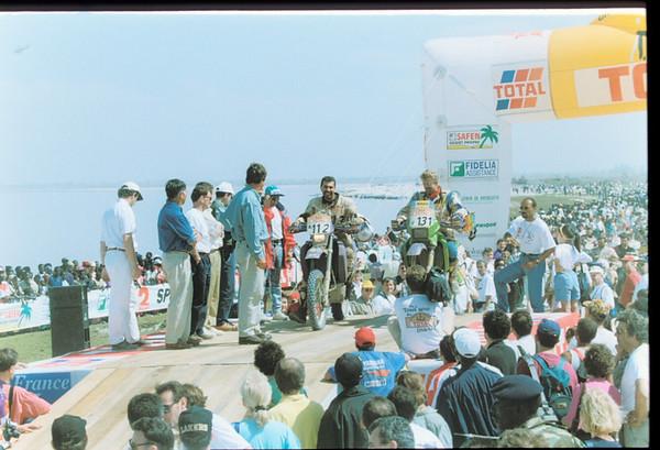 Aldo's KLX650 at Dakar