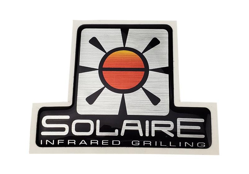 ITEM SOL-LOGODT-SB Logo, Solaire Sideburner, Dome Tag, adhesive backed