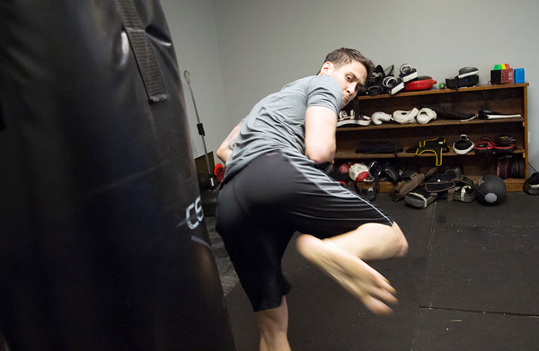 01/07/20 Wesley Bunnell | StaffrrWarming up at New Britain Judo & Dynamic Arts on West Main St in New Britain is Peter Giannola.