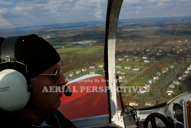 Jim Lombardo Downwind in His Ercoupe for Three Zero Somerset