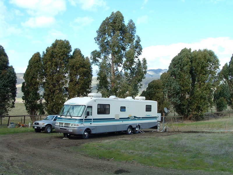 Motorhome at Bridgecreek Ranch, San Luis Obispo, CA