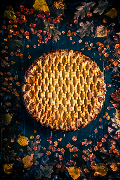 Rustic sweet potatoes pie