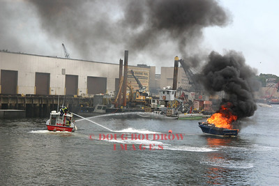 Boston, MA - Boat Fire, Mystic Marina, 7-9-06