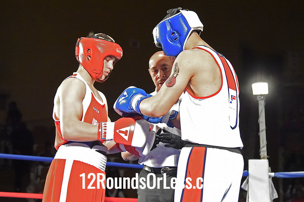 Bout #6:   Wyatt Stanford, Steel Town B.C., Ontario, Canada   vs.   David Rodriguez, Akron Boxing Academy, Akron, OH,   152 Lbs.