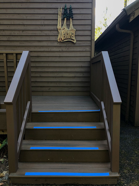 Painter's Tape on Welcome Steps