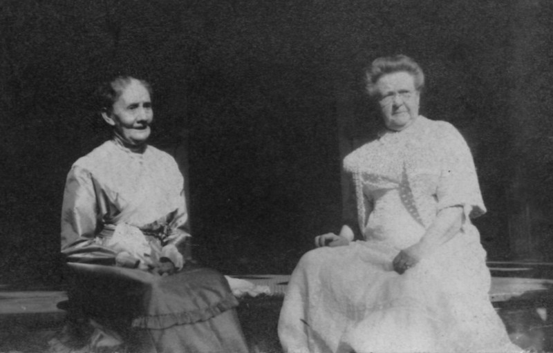 The mothers-in-law: Mary Chidgey Mathivet and Mary Ellen Pillsbury Hill, circa 1916