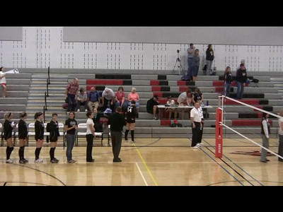 Jessica Sings the National Anthem before a CHS Varsity Volleyball Match 9-15-2009