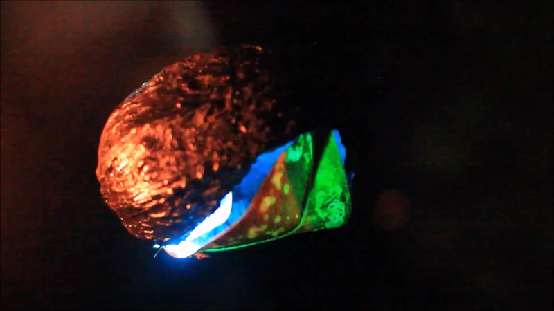 cacao pod with psy-colors - free short video, looped