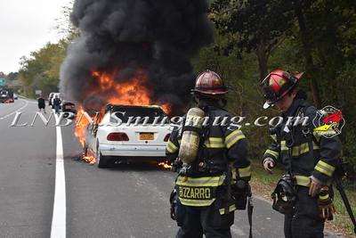 Seaford F.D. Car Fire S/B  RT 135 # Exit 3 11-1-17