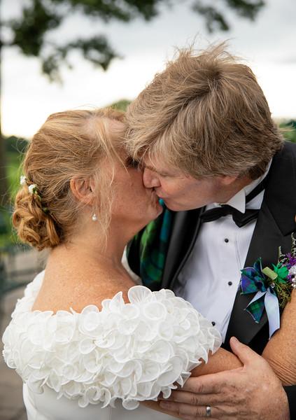 Bride and Groom kissing Outside.jpg