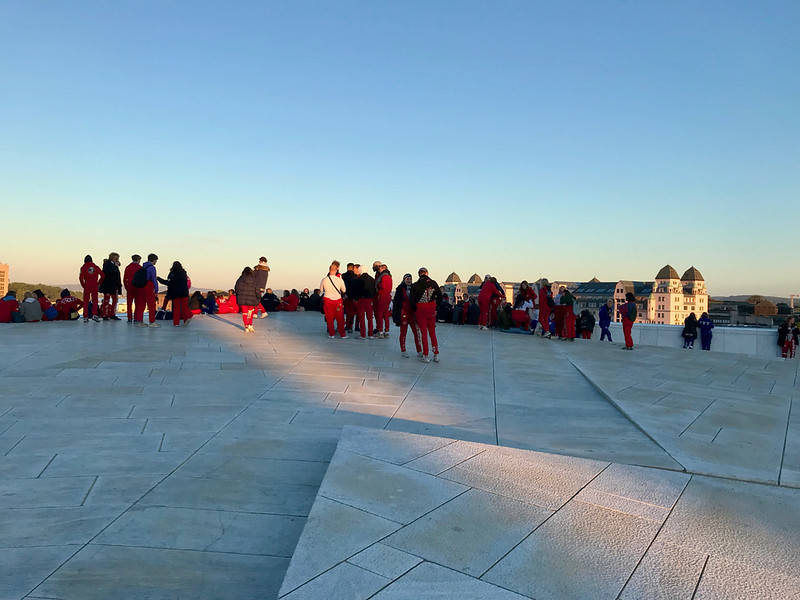 Sunrise on top of the Opera House with the class of 2019 on May 17th.