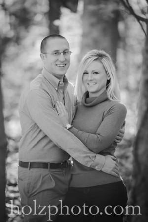Holly & Mark B/W Engagement Photos