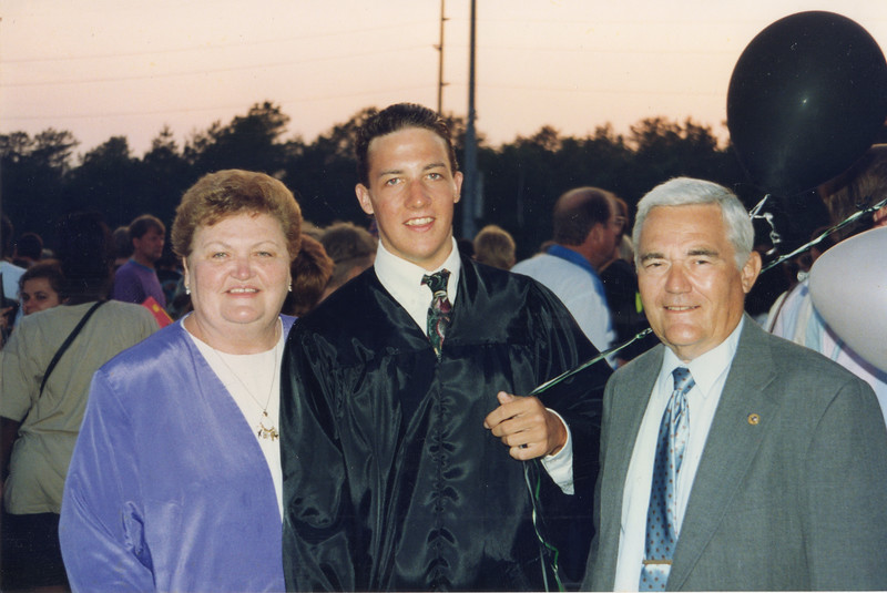 Joan, Bill and Tommy - Tommy's High School Graduation 1993 Egg Harbor Township, NJ.jpg