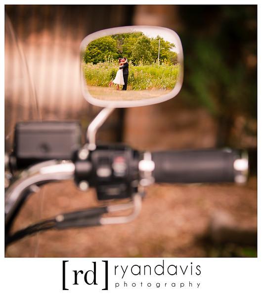 Harley Davidson Wedding Reflection