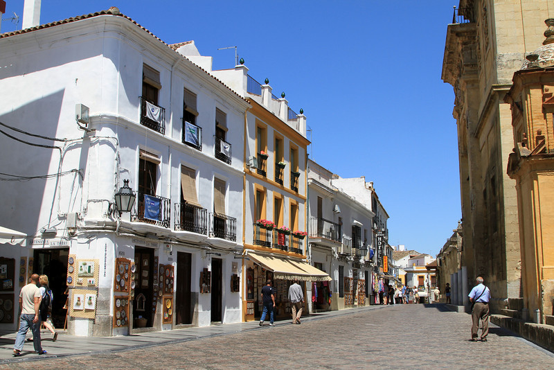 Street and shops next to Mezquita, Cordoba.